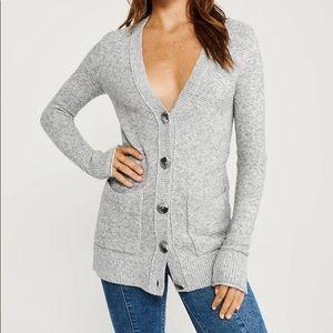 Cropped grey cardigan